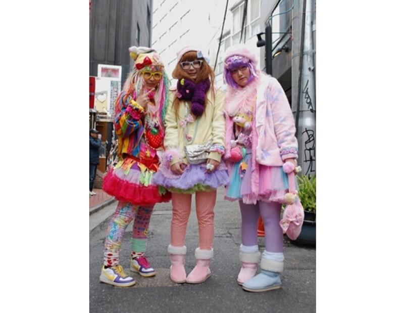 Fashionistas del distrito Harajuku