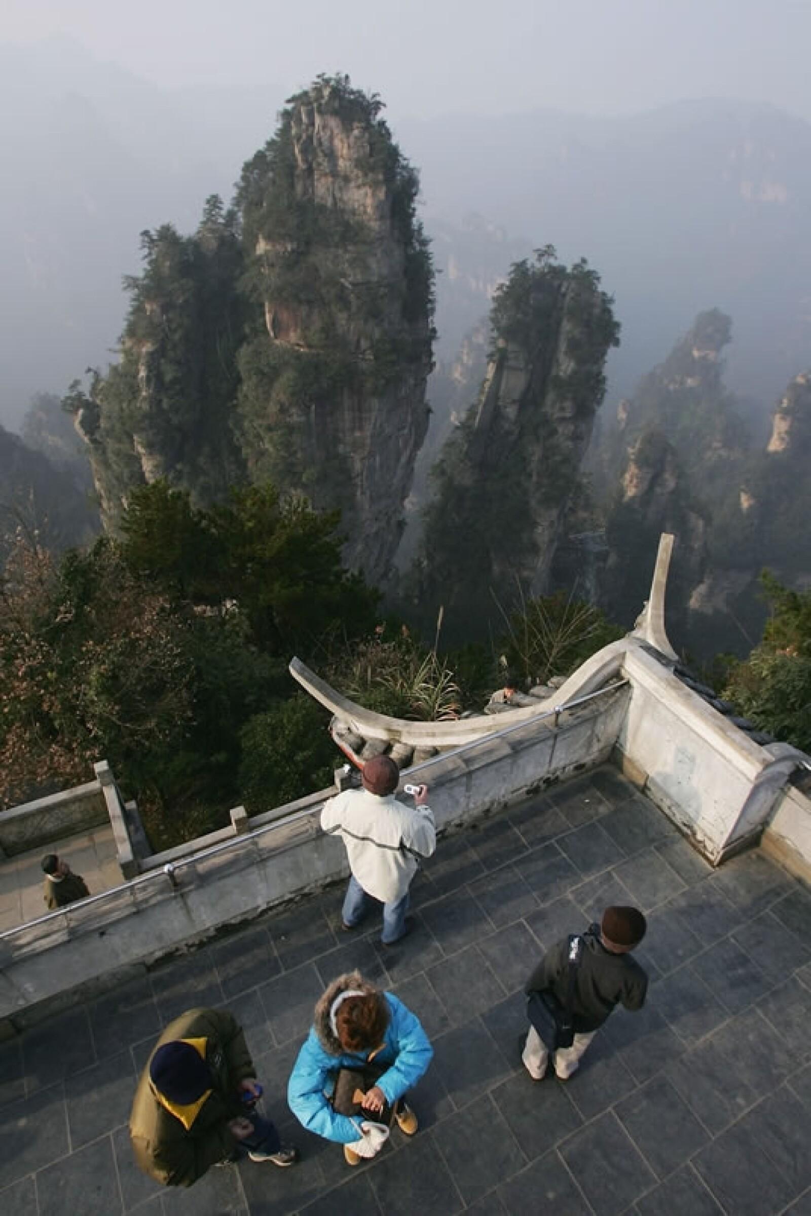 Parque Zhangjiajie Wulingyuan cascadas