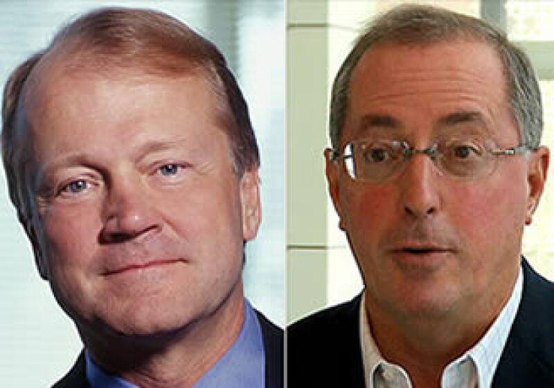Paul Otonelli, CEO de Intel y Jhon Chambers, director ejecutivo de Cisco opinan diferente sobre los efectos de la ley sobre chips. (Foto: Cortesía CNN Money.com)