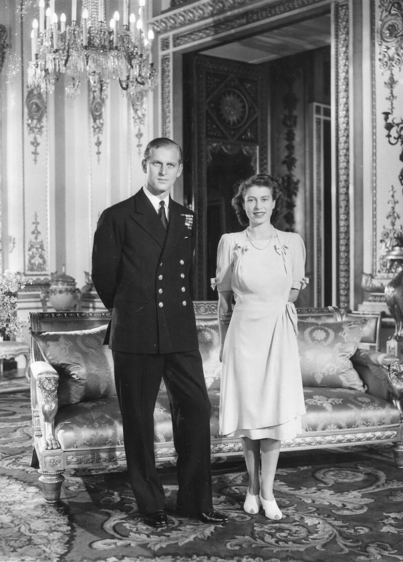 Princess Elizabeth And Lt Mountbatten Engagement Photo