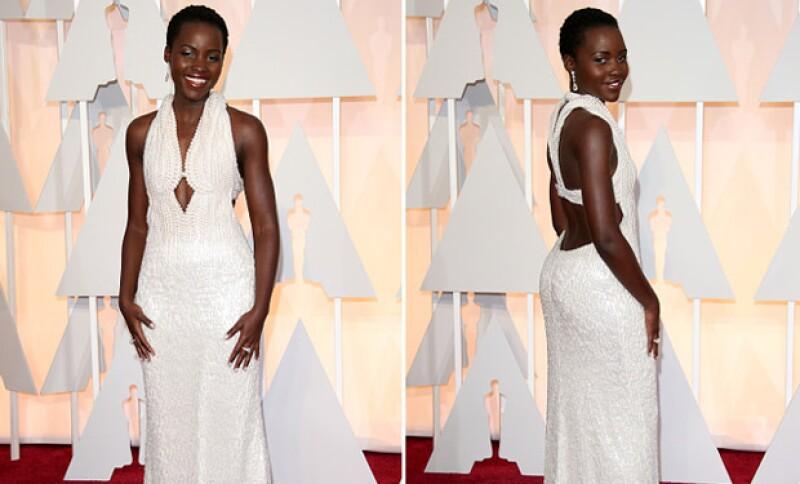De acuerdo al portal TMZ, el vestido de perlas que lució la ganadora a Mejor Actriz de Reparto para esta edición de los Oscar fue robado.