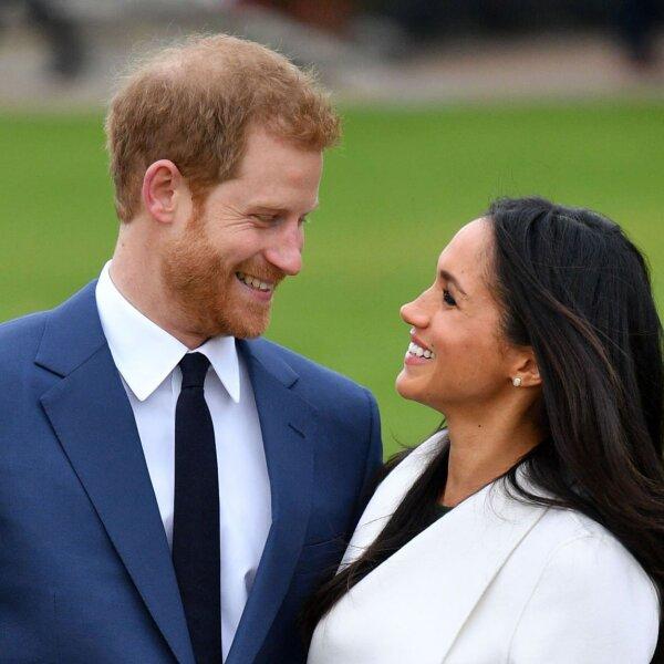 La actriz Meghan Markle y el príncipe Harry