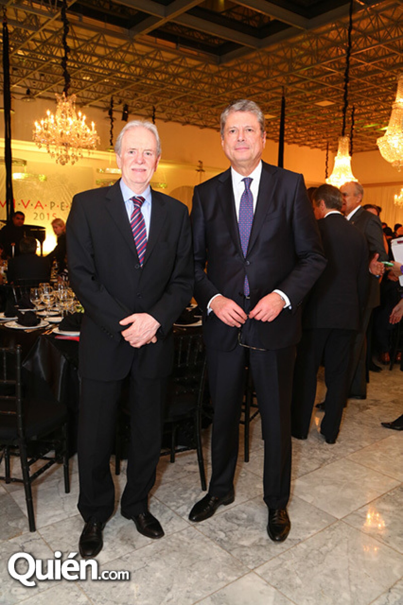Pál Varga Koritar, Embajador de Hungría, y Alessandro Busacca, Embajador de Italia