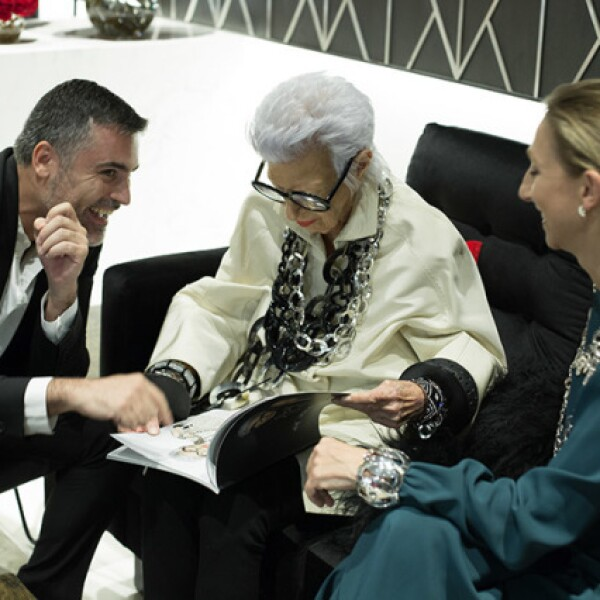 Nini Bauti, Iris Apfel y Sylvie Ligonie