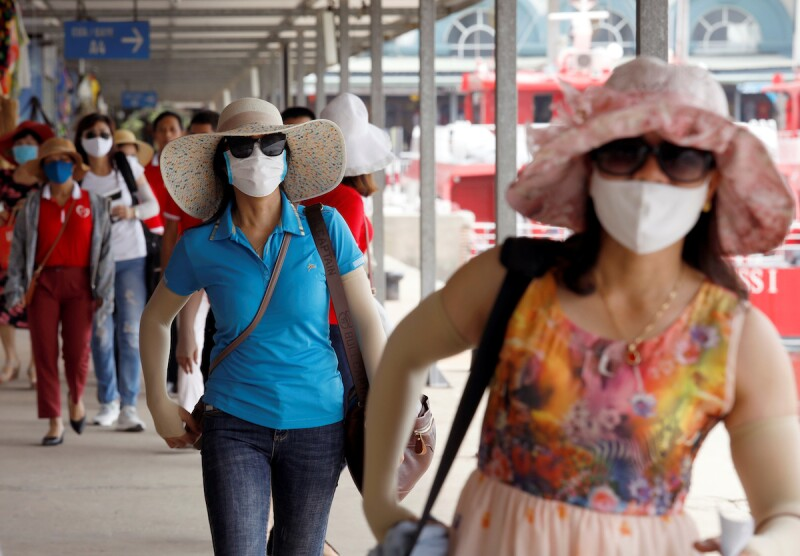 Vietnamese tourists visit Ha Long bay after the Vietnamese government eased the lockdown following the coronavirus disease (COVID-19) outbreak, in Quang Ninh province