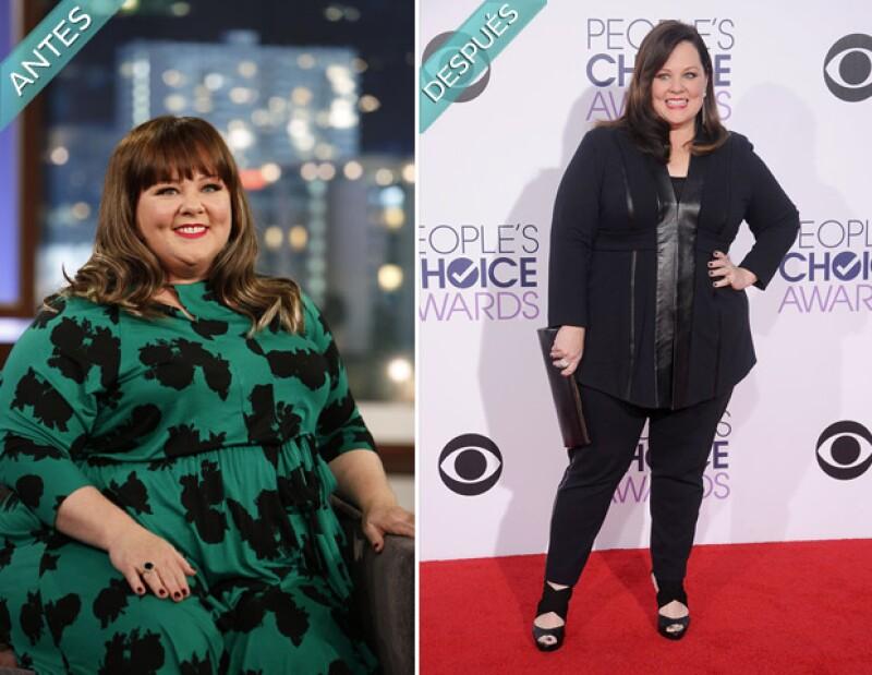 La actriz de Hollywood, conocida por su sobrepreso, sorprendió ayer en los People's Choice Awards con un nuevo físico.