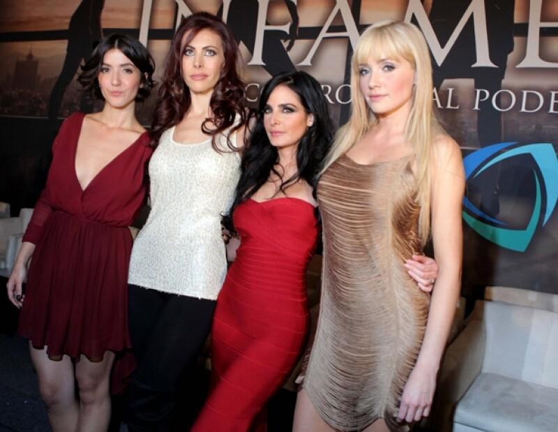 Las protagonistas de la serie: Eréndira Ibarra, Vanessa Guzmán, Ximena Herrera y Lissete Morelos.