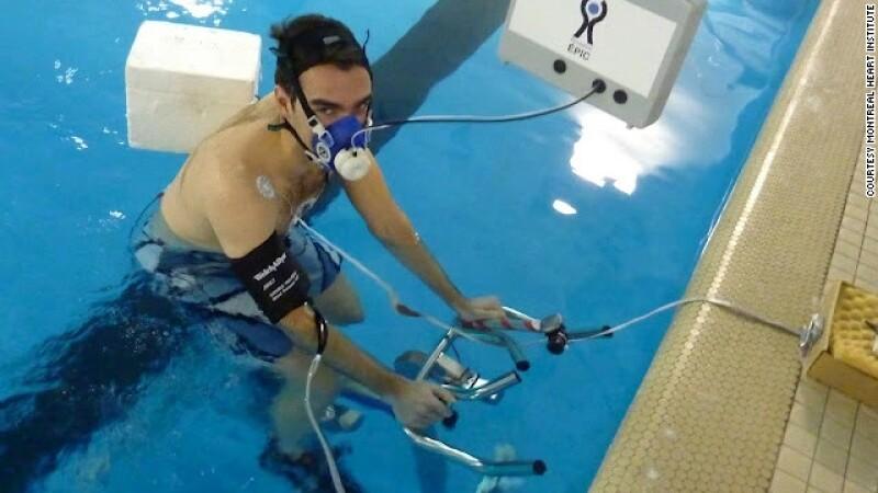 hydro spinning bicicleta bajo el agua