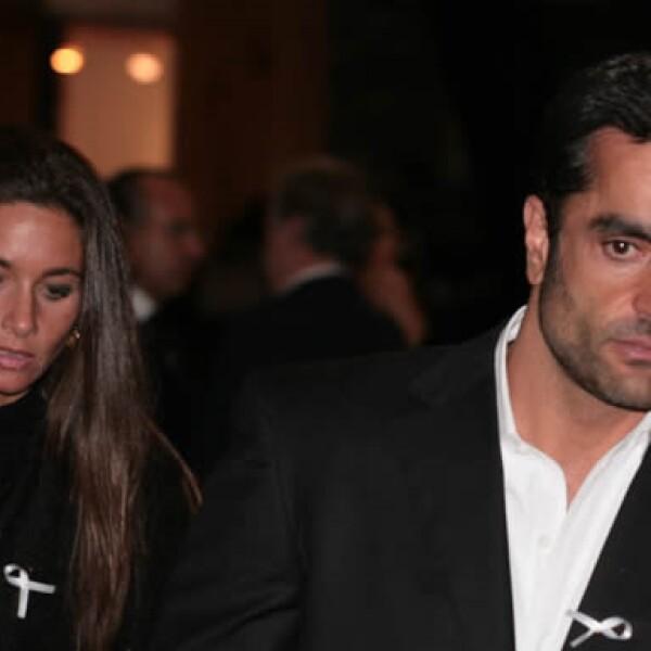Sissi Harp, hija del empresario Alfredo Harp Helú, asistió a la misa acompañada de su esposo Luis Narchi.