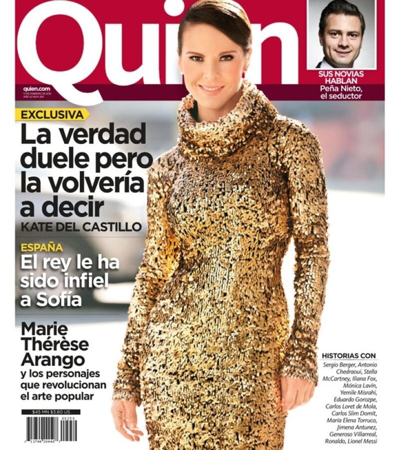 La actriz habló sobre los temas polémicos que se han generado a su alrededor y además posó en exclusiva para la revista Quién, misma que ya está en circulación.