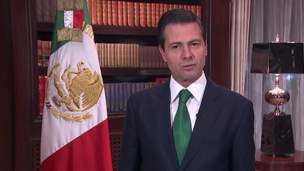 En su mensaje de Año Nuevo, Peña Nieto presume creación de empleos en su gestión