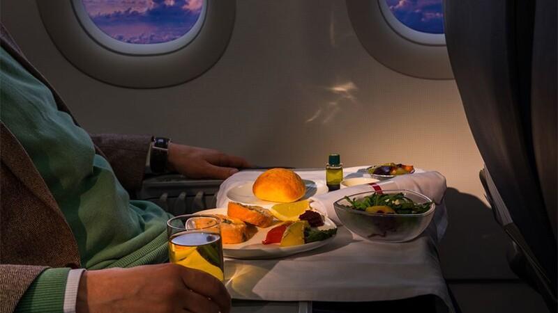 Comida en avión