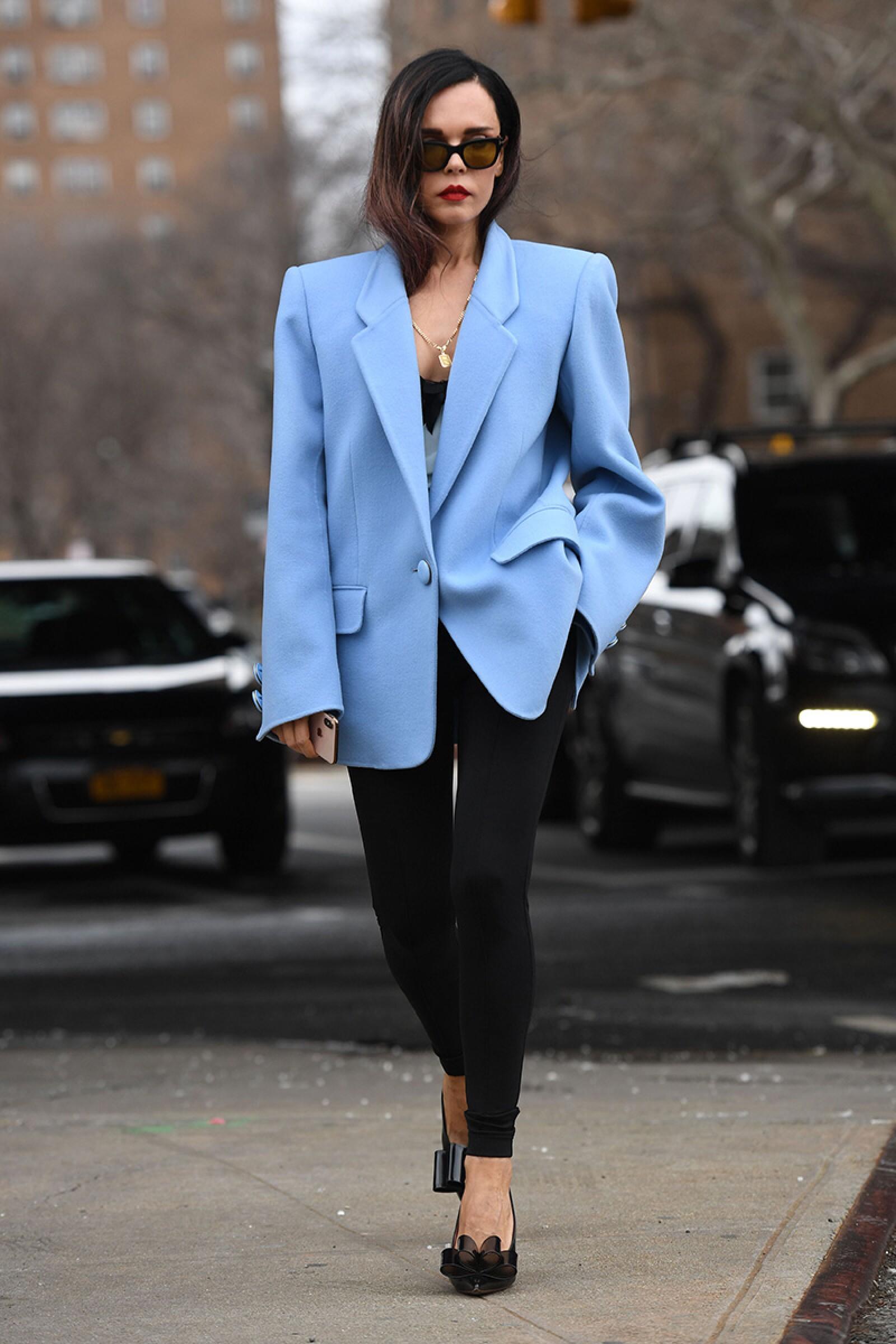 Street Style, Fall Winter 2019, New York Fashion Week, USA - 13 Feb 2019