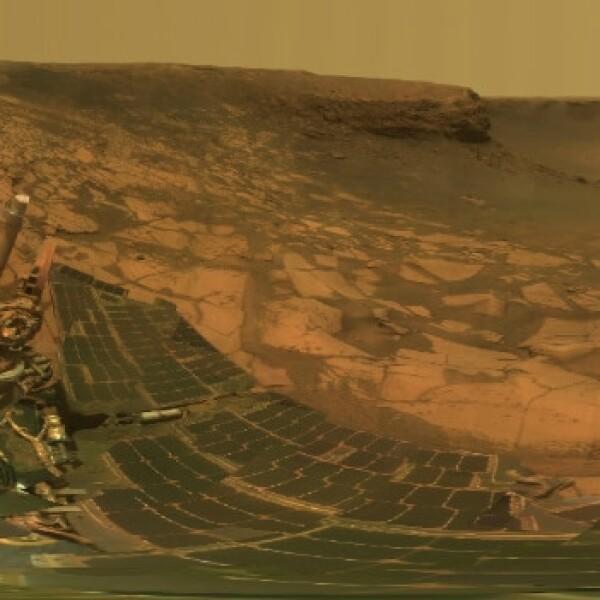 Marte Mars Opportunity Bahía Duck  cráter Victoria en 2007