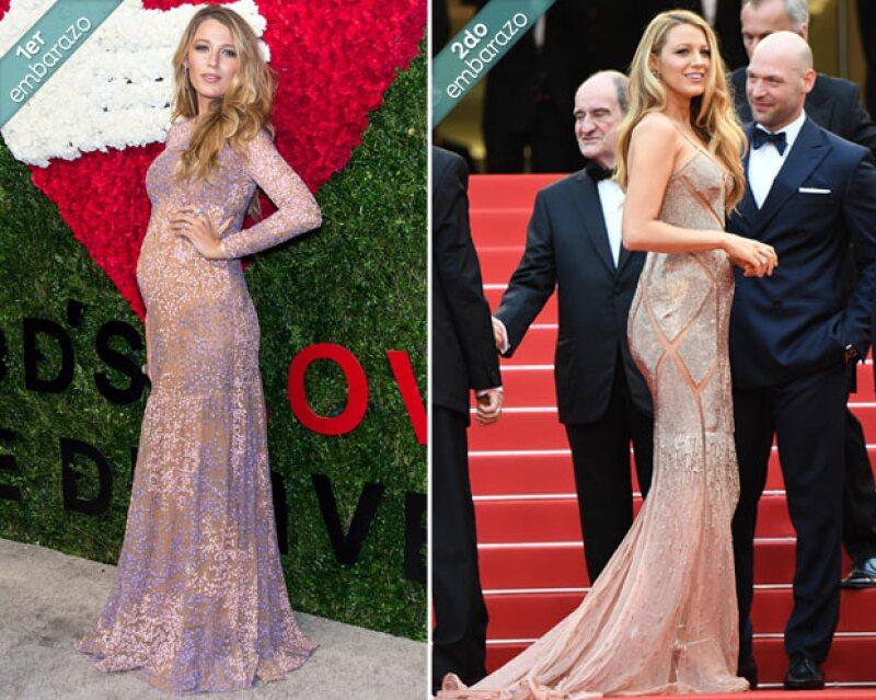 Desde que tuvo a su primer bebé a ahora, la actriz ha presumido diferentes looks en red carpet, por lo que hacemos una comparación entre ellos.