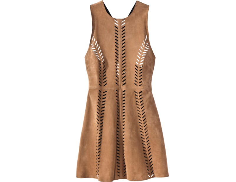 Vestido en piel, Maje, US ¢660; maje.com