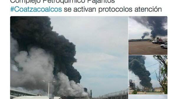 La empresa productiva del Estado informó que la explosión, a la que calificó como un accidente, ocurrió en la planta PMV que opera la empresa Mexichem, con la cual la empresa tiene una asociación.