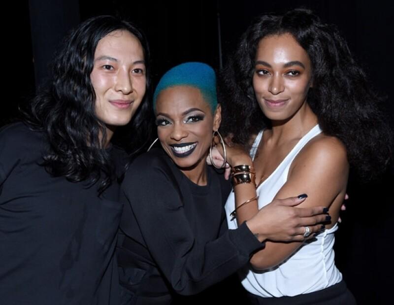 Wang, la rapera Sharaya J que abrió el show de Missy Elliot, y Solange Knowles.