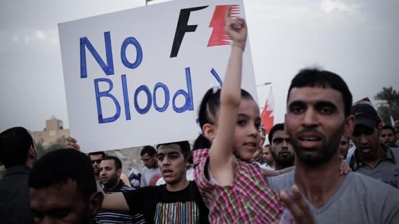 Protestas previas al GP de Bahrein