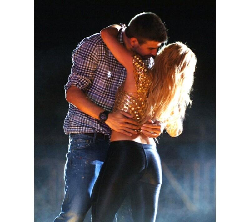 Piqué y Shakira durante un espectáculo de la cantante.