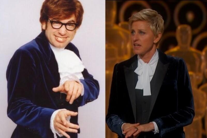 Ellen Degeneres fue comparada con Austin Powers por su outfit.