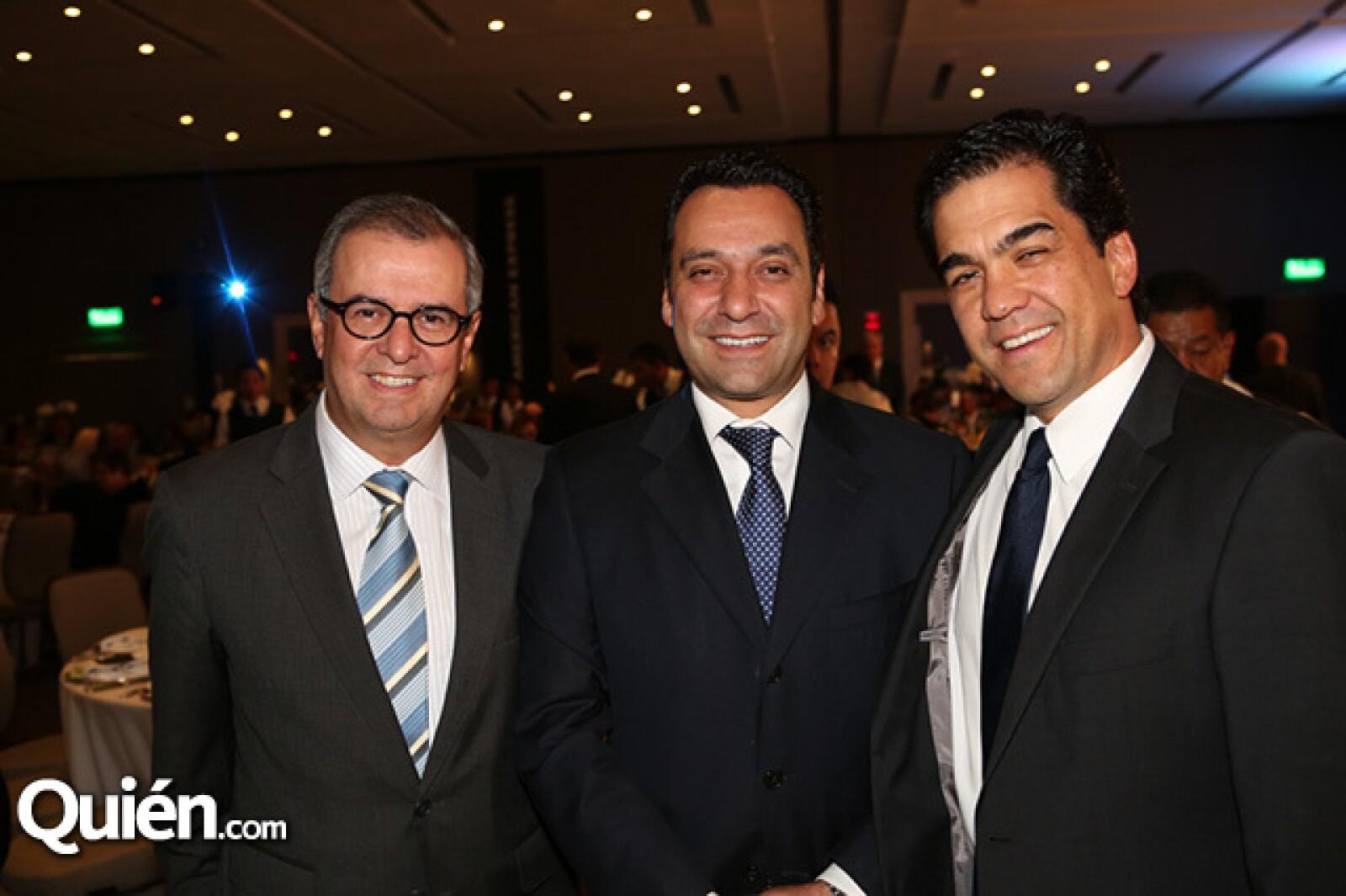 Mauricio Fernández,Fernando Zapata y Javier Palacero