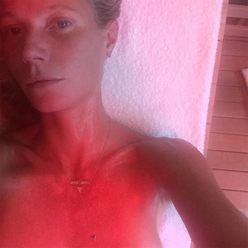 Gwyneth Paltrow declaro que el sauna infrarrojo es uno de los tantos detox que hará este año.