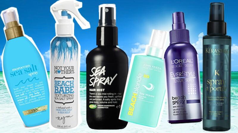 Varios marcas tienen sprays buenos para este estilo como: Moroccan Oil, Lush, John Frieda, Loréal y Kérastase.