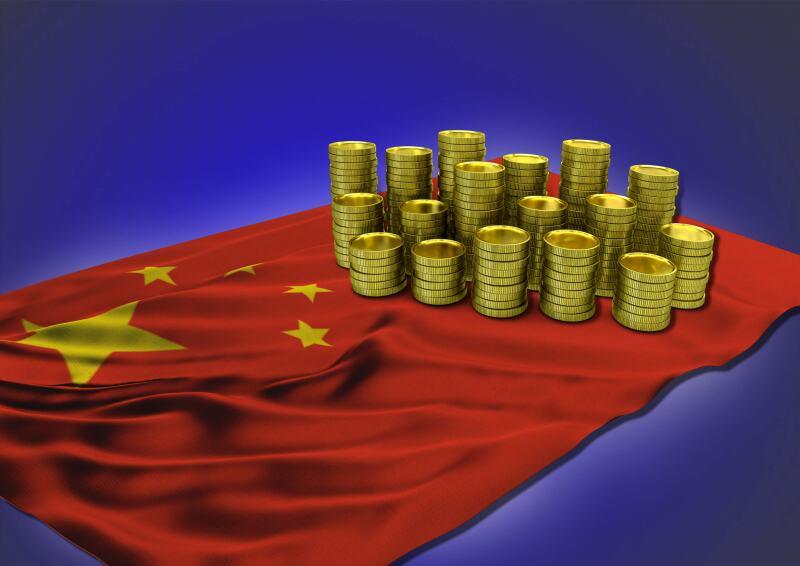 China crecimiento PIB bandera