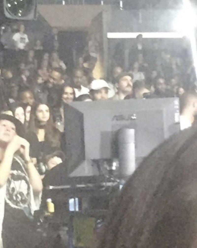 La cantante asistió al concierto que ofreció su ex novio en LA.