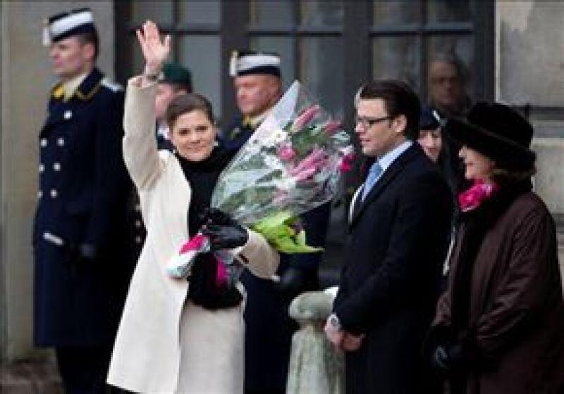 La heredera sueca celebró su santo en el patio del palacio real de Drottningholm en Estocolmo.