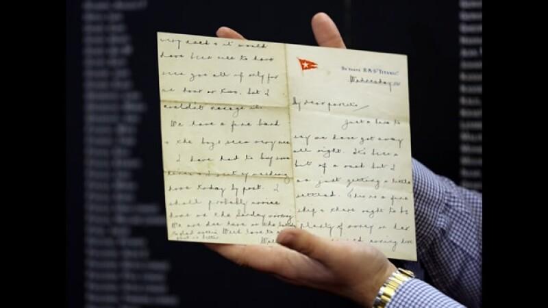 carta músico Titanic subastada