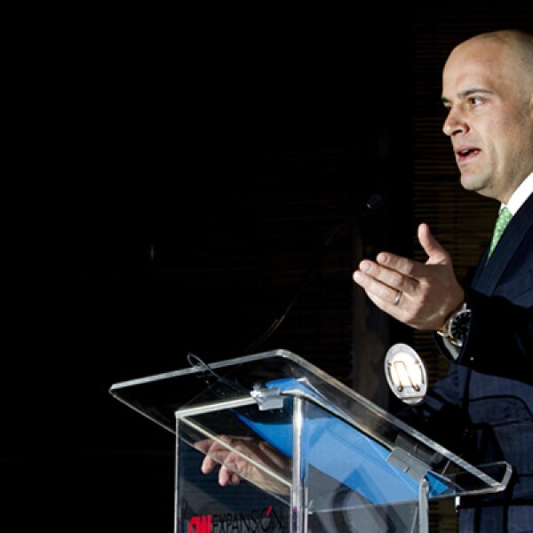 Manuel Rivera, CEO de Grupo Expansión, dio el discurso de bienvenida al evento.