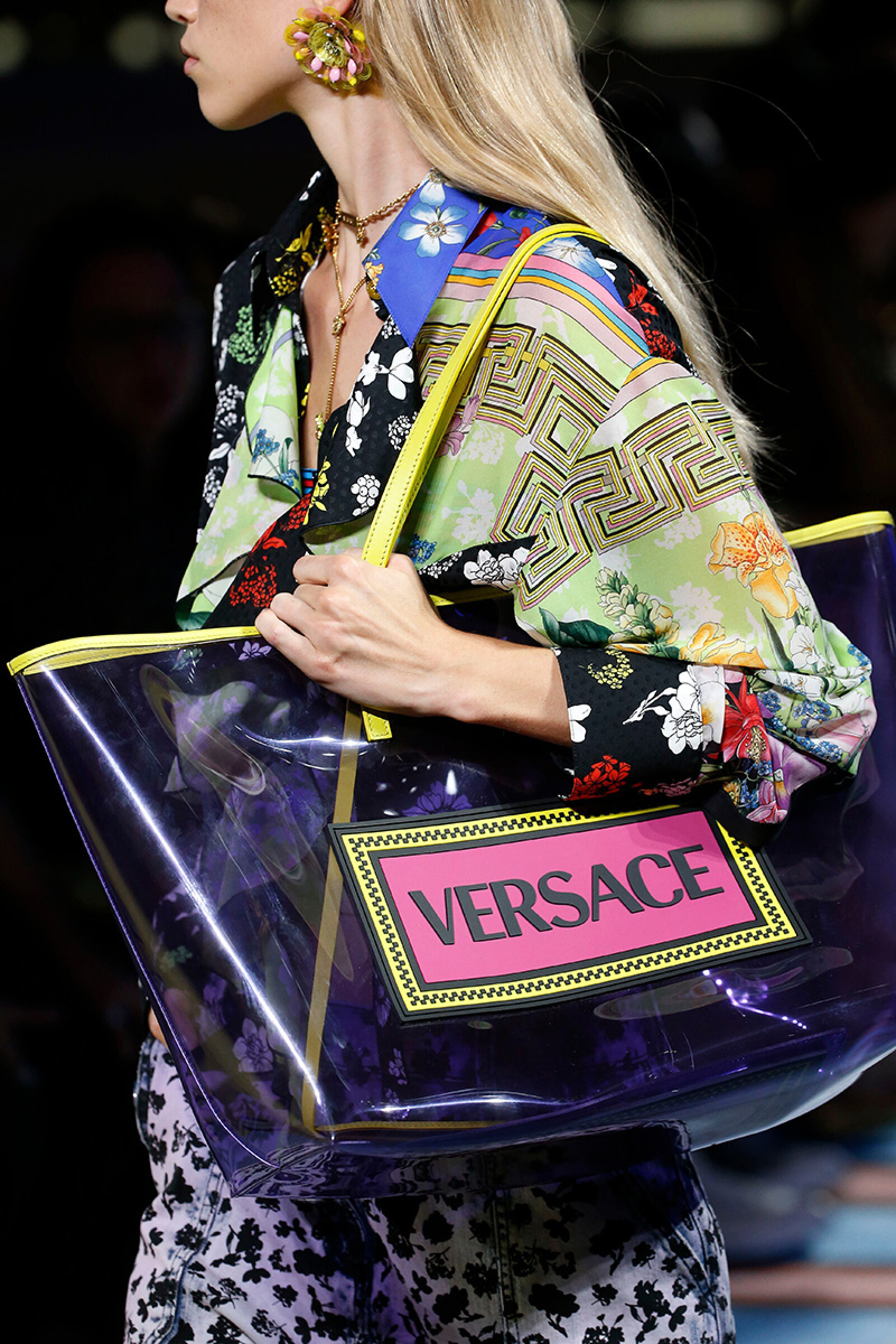Versace show, Detail, Spring Summer 2019, Milan Fashion Week, Italy - 21 Sep 2018