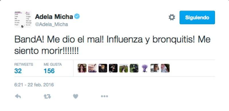 La conductora anunció su enfermedad en Twitter.