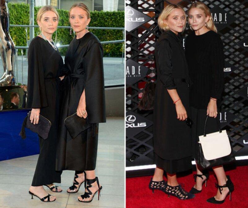 Mary Kate Olsen (la de la izquierda), siempre trata de usar tacones no tan altos.