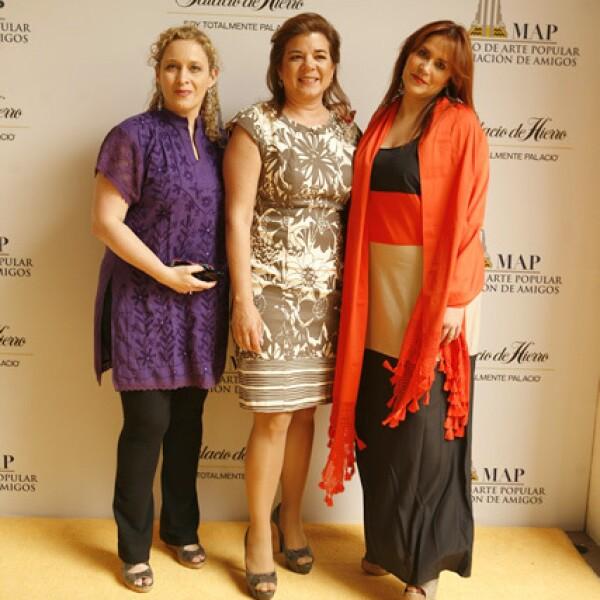 Patricia Gout, Sonya Santos y María Esther Villar