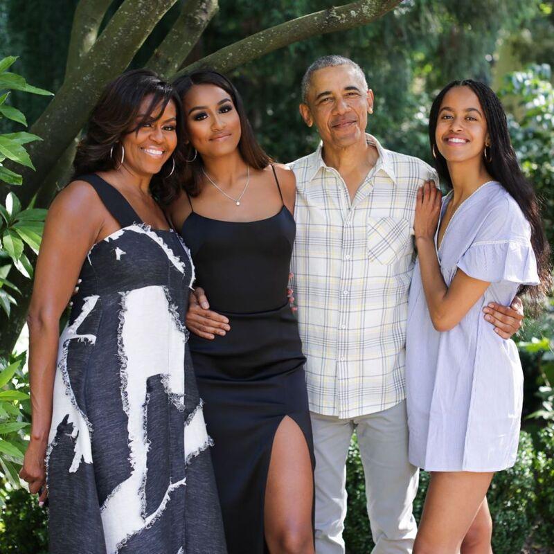 Michelle, Sasha, Barack y Malia Obama