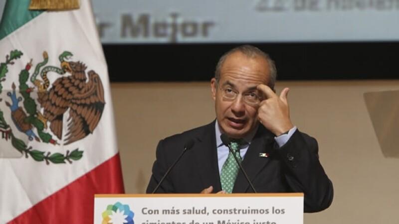 Felipe Calderon en actos de su gobierno