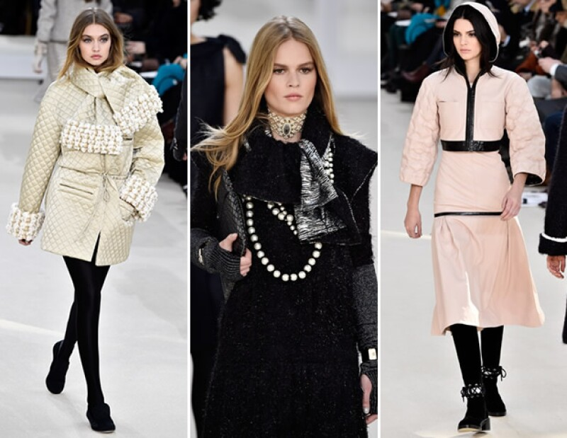 Gigi Hadid, Anna Ewers y Kendall Jenner en el desfile de Chanel.