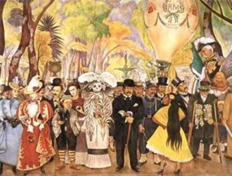 """Diego Rivera fue otro artista mexicano que recurrió a """"La Catrina"""" en sus murales."""