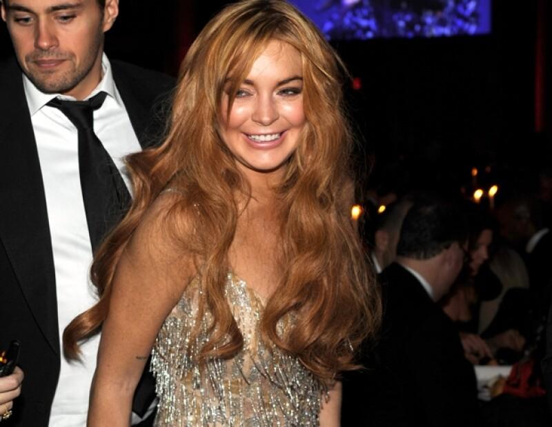 Lindsay Lohan no se ve especialmente bien después de tantas noches de fiesta.