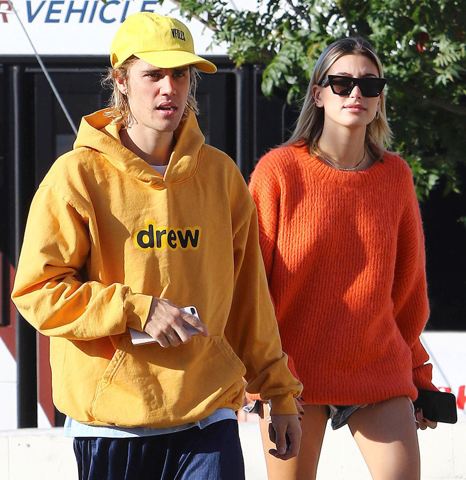 Justin Bieber and Hailey Baldwin out and about, West Hollywood, Los Angeles, USA - 24 Oct 2018