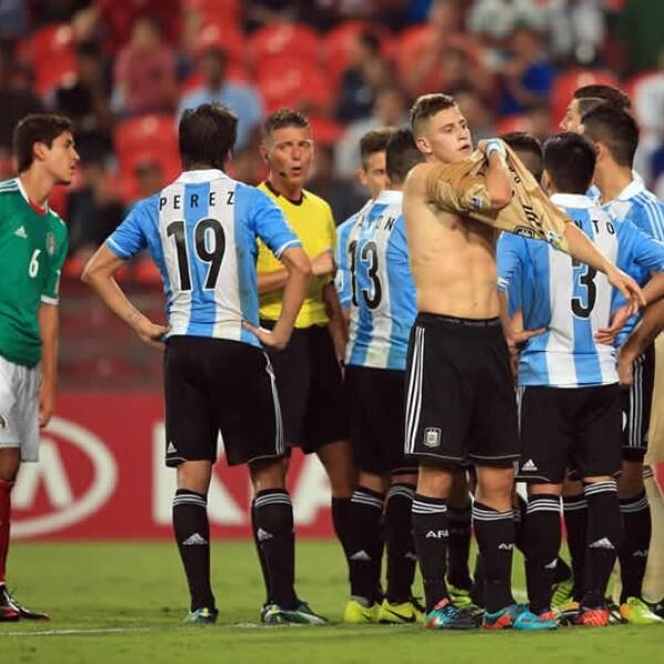 expulsion del portero argentino