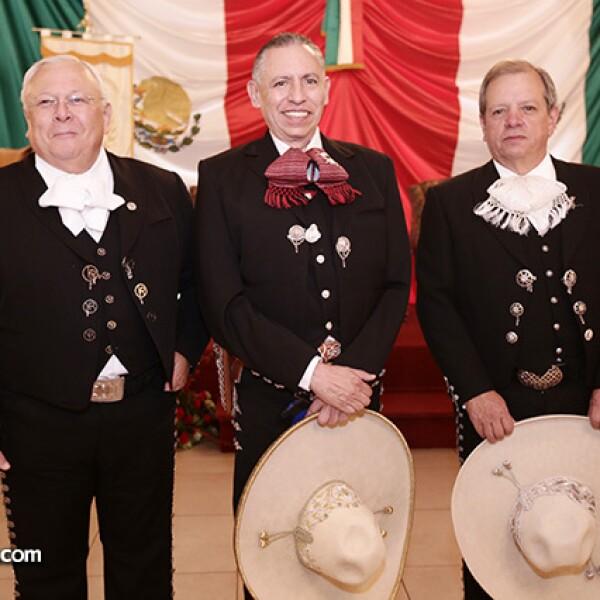 Vicente Ransanz, Pedro Benites y Luis Franco