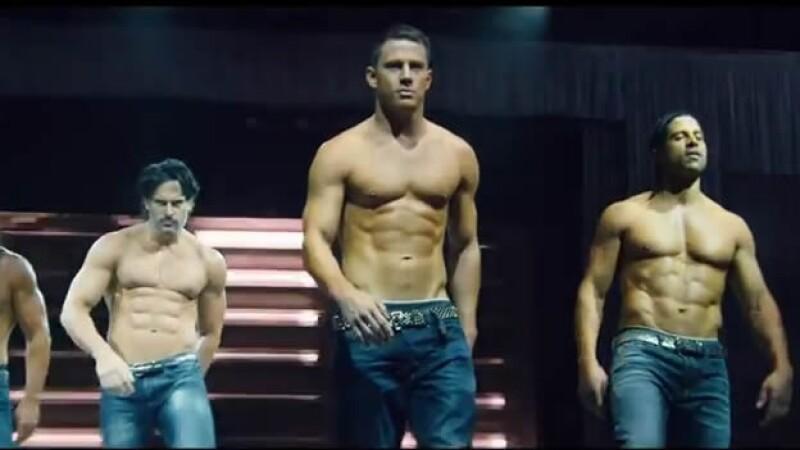 Channing Tatum (centro) y un grupo de strippers vuelven a la pantalla grande con ?Magic Mike XXL?