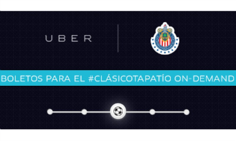 La promoción fue lanzada junto con las Chivas del Guadalajara. (Foto: Uber/Cortesía )