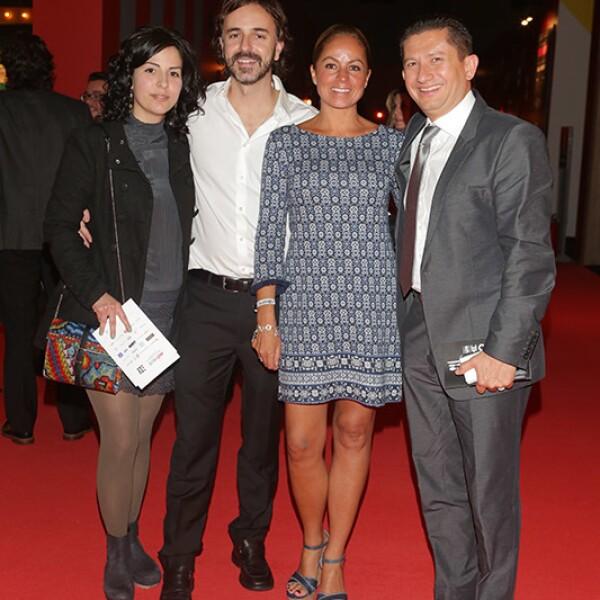 Laura Herrera, Álvaro Zunimi, Astrid Garza y Mauricio Torres