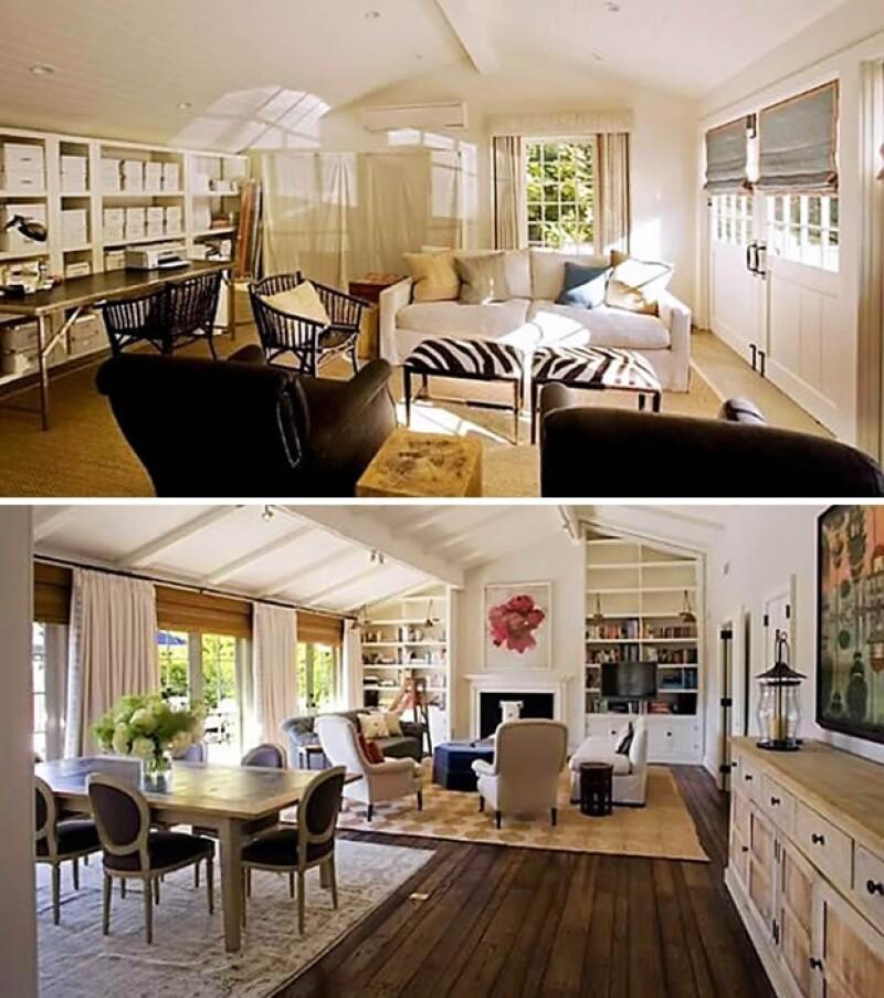 También tiene salas de estar bastante amplias.