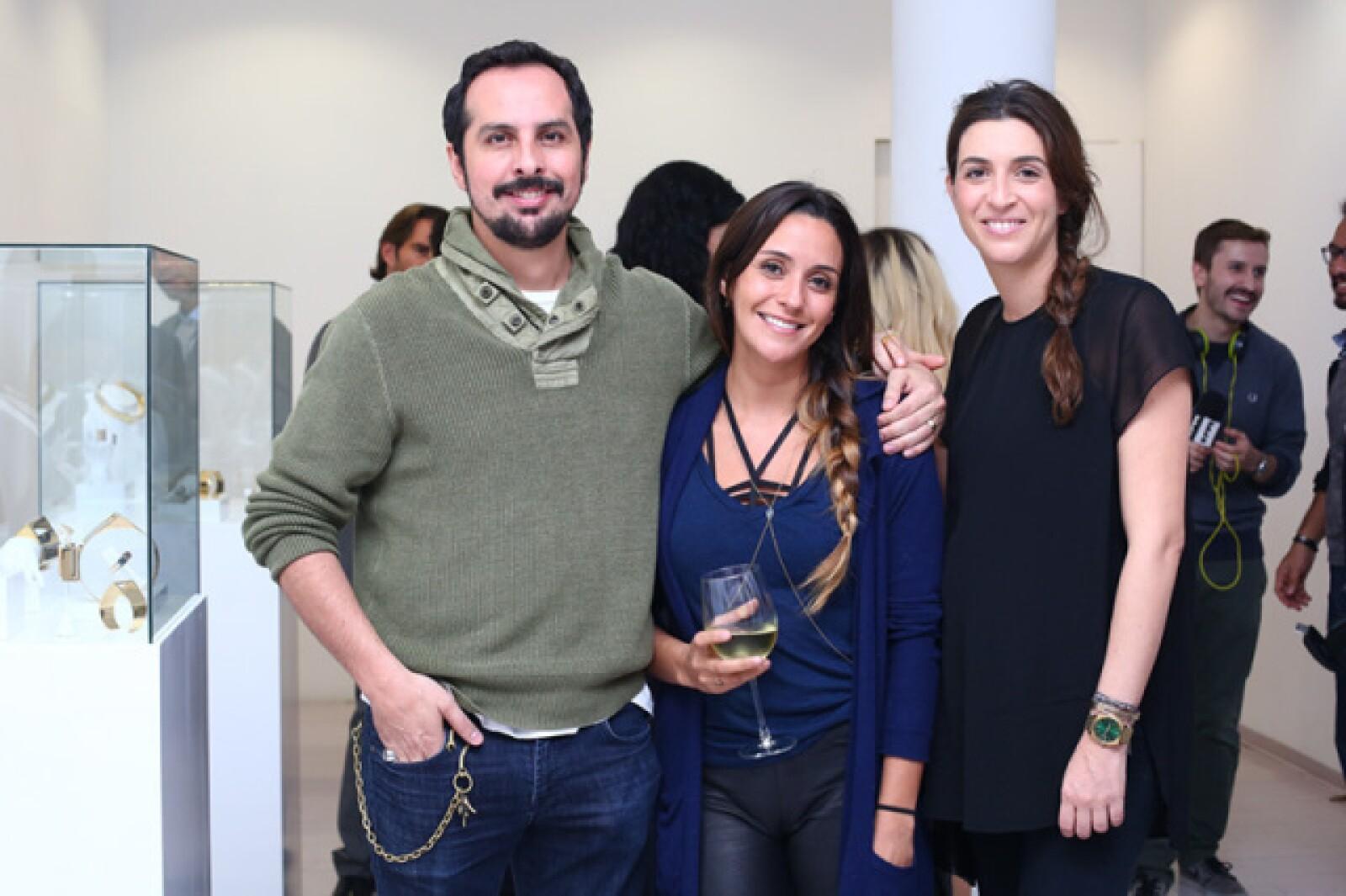 Santiago Rionda, Marcelo Lugo y Sandra Weil